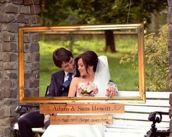 Handheld or Hung Wedding Frame Photo Prop