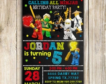 Ninjago Invitation, Ninjago Birthday Party, Ninjago Party Invitation, Ninjago Birthday Invitation, Ninja Party, Ninja Invitation