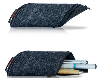 Pencil case make-up bag, glasses case, pencil, felt, designer pencil case, loop