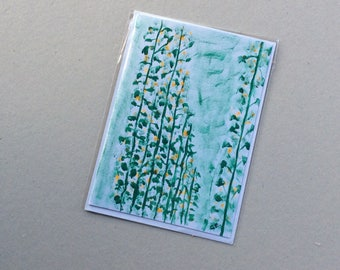 Beans- Hand Painted Original - Art on a Card -Greeting card