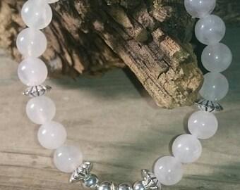 Rose Quartz Yoga/Beach Bracelet