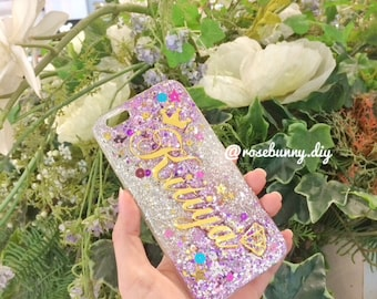 Glitter Name Case | Handmade | Made to order Mirror color