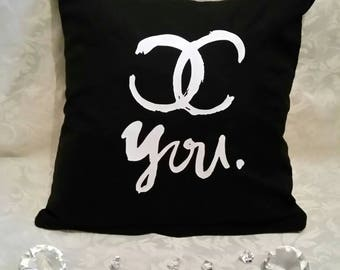 Chanel inspired cushion