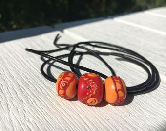 Indian Summer Nights Series - 3 beads necklace