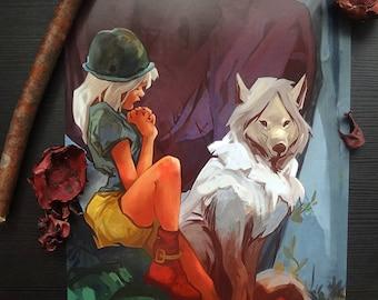 Understanding Wolf wolve Print A4