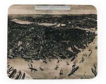 Boston 1905 Birds Eye View Mousepad