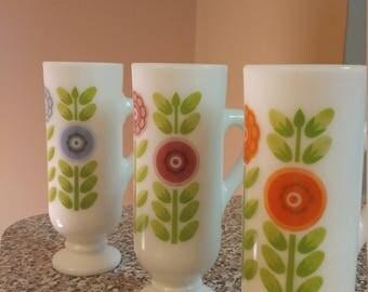 Vintage Avon milk glass demitas cups. Great condition. No chips.