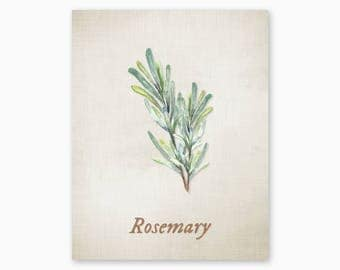 ROSEMARY PRINTABLE, Kitchen Printables, Kitchen Wall Art, Kitchen Herbs Art, Vintage Kitchen Art, Housewarming Gift, Instant Download