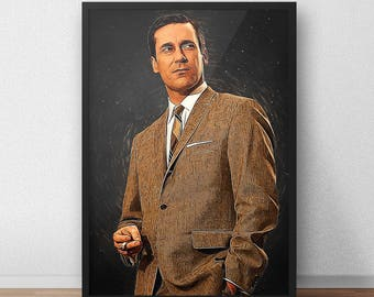 Don Draper - Don Draper print - Mad men - Mad men poster - TV Show - Series