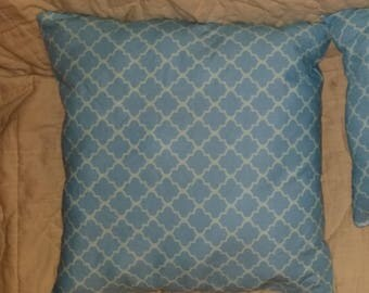 Stuffed Blue Pattern Throw Pillow