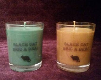 Pagan / Wiccan Scented / Unscented Ritual / Altar Spell & God Goddess Candles All Natural Soy / Cotton Wick Green Brown