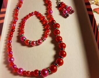 stretch necklace set