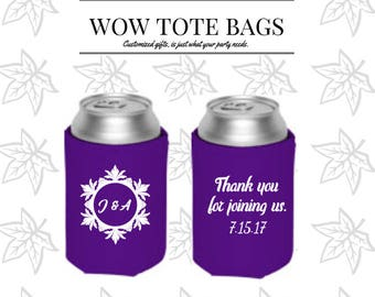 Wedding favors, Custom can Coolies, Bottle coolers, Personalized wedding supplies, Damask , Custom wedding gifts