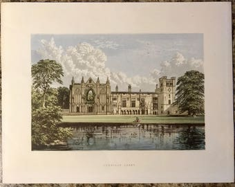 Newstead Abbey - Chromolithograph Late 19th Century