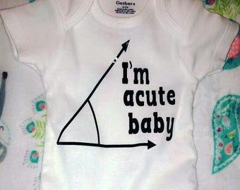 Acute baby onesie