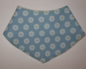 Blue Patterned Baby Boy Bandana Dribble Bib