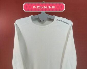 Vintage Levis Sweatshirt Crewneck Shirt Jersey Style White Colour Evisu Shirts Adidas Sweatshirts Nike Sweatshirts Hip Hop Shirt