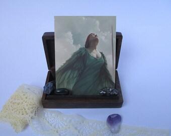 Fantasy art postcard - A6 - illustrated postcard - swan - fantasy - magical - geek gift - art postcard -'Swan Song'