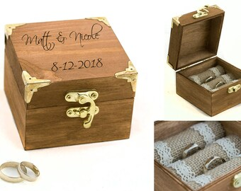 Ring bearer box Personalized wedding box Wedding ring box