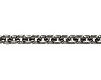 Round anchor chain from Bertram Copenhagen-Black