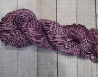Hand-dyed, worsted weight tonal yarn, 100% SW merino wool, 218yds, colorway *Fairy*