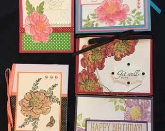 Floral Greeting Cards (Set of 5) Group A