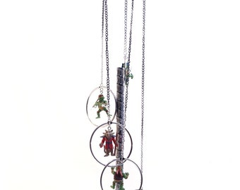 Teenage Mutant Ninja Turtles Wind Chime, Ninja Turtles Gift, Ninja Turtles Lover Gift, Ninja Turtles Decor, MAAC Windchimes