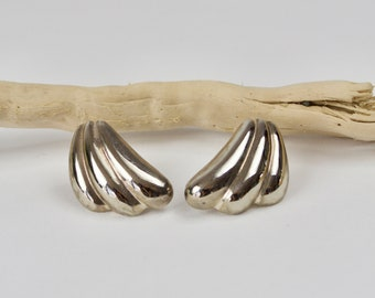 Awesome 80s modernist sterling silver earrings / Sterling Silver Jewelry/ Modernist Earrings