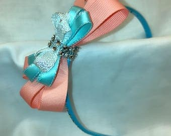 Pink and Blue Sequin Headband