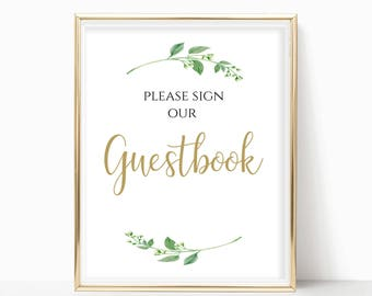 Guestbook Sign Wedding Guestbook Please Sign Our Guestbook Wedding Poster Digital Print PDF Instant Download 8x10, 5x7, 4x6 Jasmine