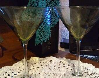 Martini glasses in light green 10oz