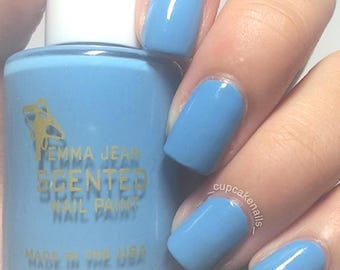 Blueberry Tart Vegan Scented Nail Polish: Blue Polish, 5FREE