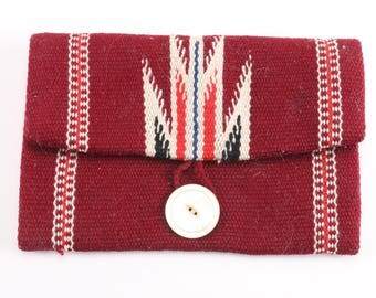 Southwestern Red Woven clutch