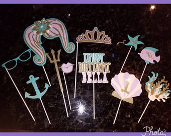 Mermaid photobooth prop set
