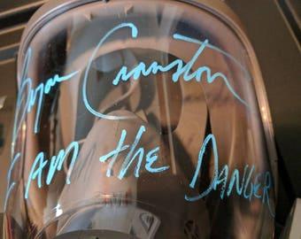 Bryan Cranston BREAKING BAD Walter White rare signed gas mask