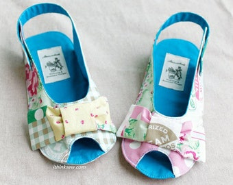 242 Anabelle Girl's Sandal Sewing PDF Pattern(Toddler-Girl)