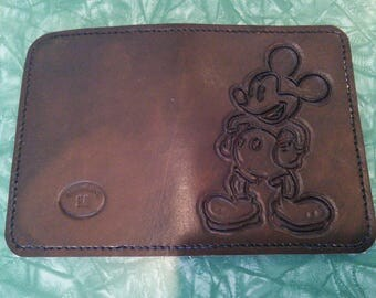 Mickey Mouse Leather Passport Cover