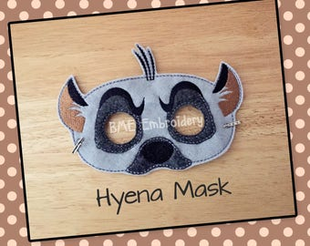 Hyena Felt Mask- Lion King-Lion Guard Child's Dress Up Imaginary Play- Birthday Party Favor-Photo Shoot-Pretend Play-Theme Party