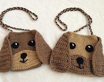 Crochet Puppy Purse PATTERN