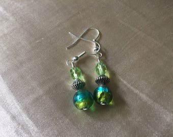 Dangle and drop bead earrings