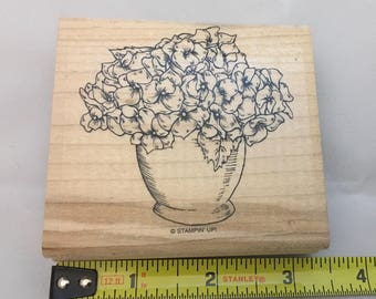 Pansies in a Pot - Stampin' Up rubber stamp. Condition -Gently Used.