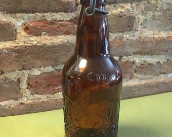 Vintage EZ Cap wheat beer bottle