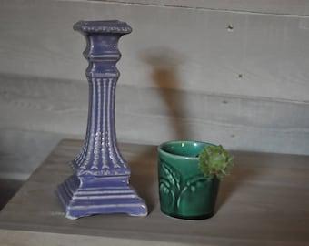 Vintage purple kitch ceramic candle holder