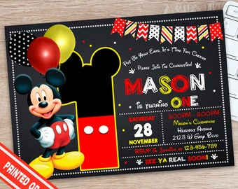 Mickey Mouse Invitation - Mickey Mouse Birthday - Mickey Mouse Party