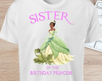 Princess Tiana Iron On - SISTER of the Birthday Girl - INSTANT DOWNLOAD