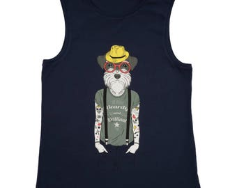 Organic Sleeveless T-shirt Humanimals - Dog