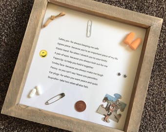 Survival Kit Frame- Birthday/Christening/