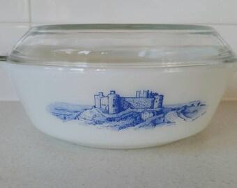 Pyrex JAJ Harlech Castle round casserole dish