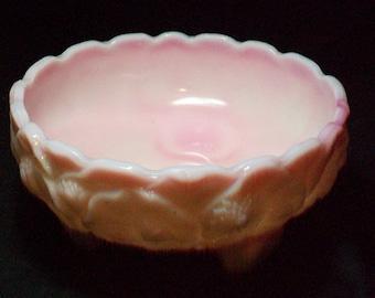 Fenton Rosalene Satin Water Lily Bowl Marked