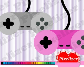 Gamecontroller / controller clipart, 25 colors, png, for gamers game website, blog, favicon, scrapbook, instant download, cu, commercial use